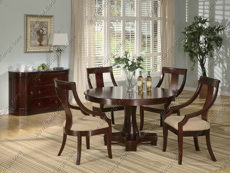 Dark Cherry Padded Dining Chair cs800494
