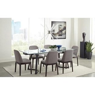 Annapolis 7pc Glass Top Dining Table Set cs105131-S7