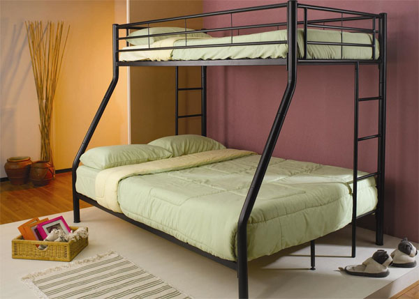 Denley Black Metal Twin/Full Bunk Bed cs460062BBB