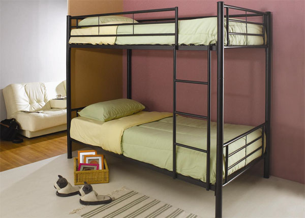 Denley Black Metal Bunk Bed cs460072BBB