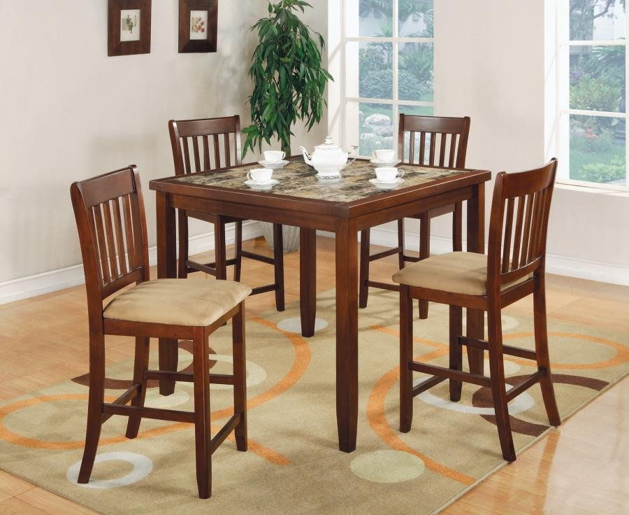 Marble Dream 5pc Cherry Dining Set cs150154