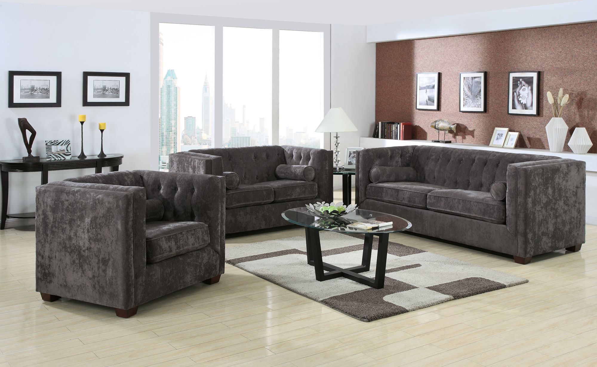 Alexis Collection Loveseat (Charcoal) cs504492L