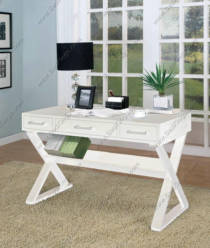 Chloe White Writing Desk cs800912