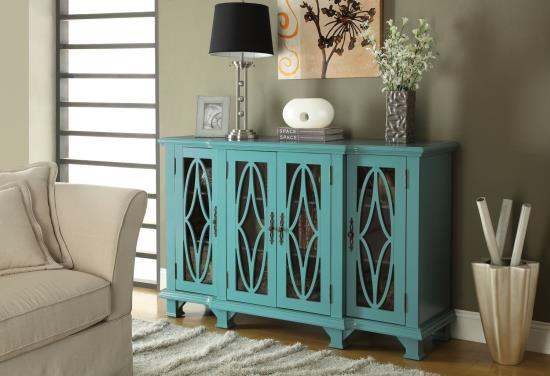 Freya Teal Accent Cabinet cs950245
