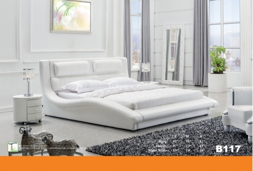 Low Pro White Queen Bed Ti B117QB