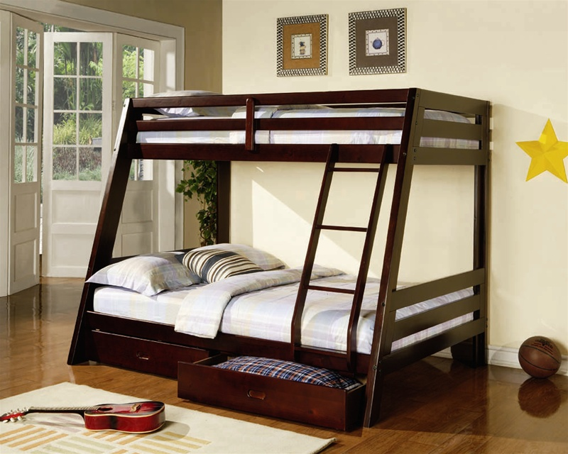Sara II Cappuccino Twin/Full Bunk Bed cs460228BB