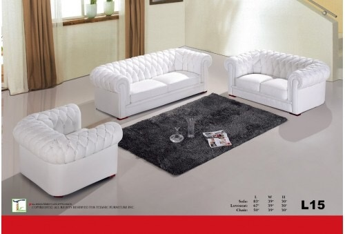 Aspen White Loveseat Ti L15L
