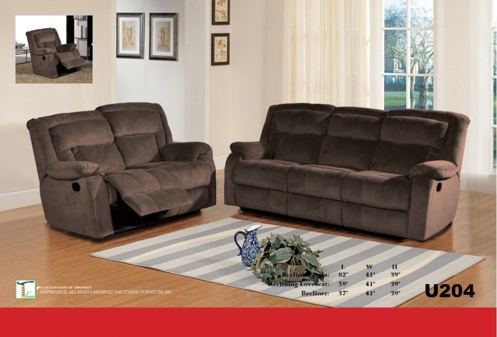 Barron Chocolate Reclining Loveseat Ti U204L