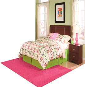 Carl Cherry Twin Panel Headboard Na B790H3