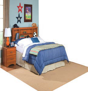 Carl Copper Twin Bookcase Headboard Na B791B3