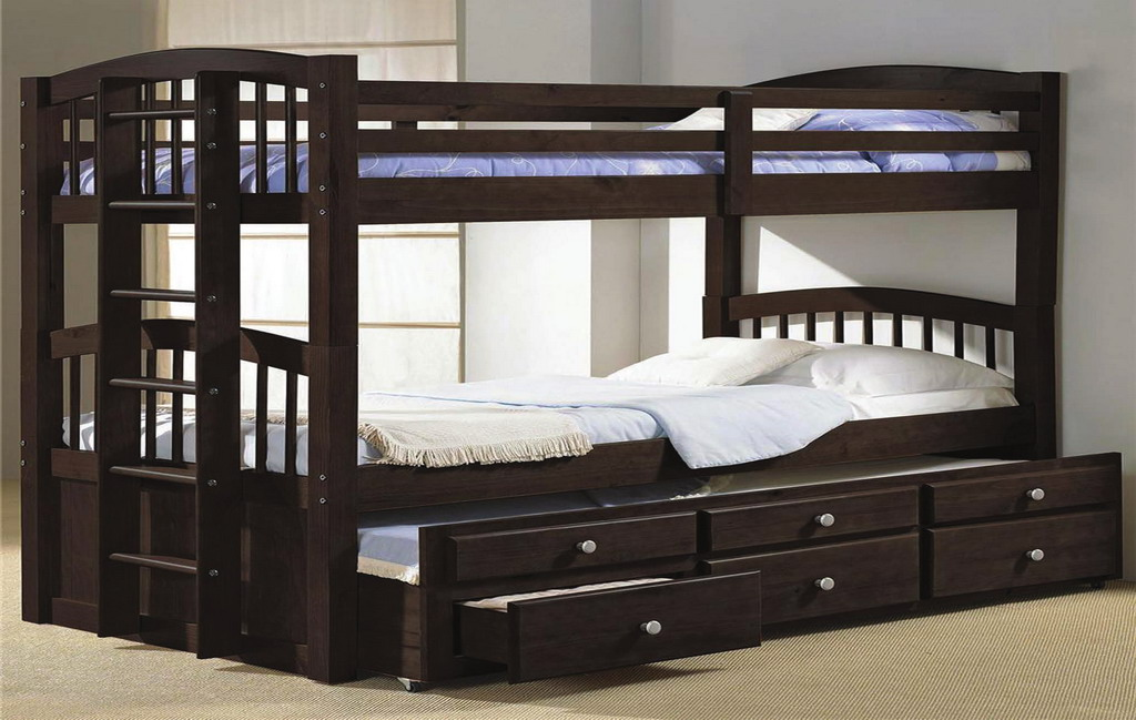 Triple Espresso Bunk Bed Na S249 Bedkings