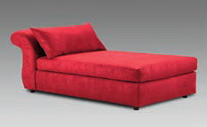 London Red Chaise Na U315CH