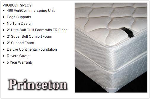 princeton twin mattress and boxspring set 6502st