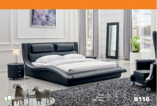 Low Pro Black Queen Bed Ti B116QB