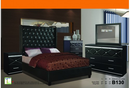 Lux Charcoal Queen Bed Ti B130QB