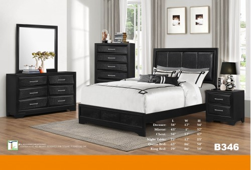 Alligator Black King Bed Ti B346KB