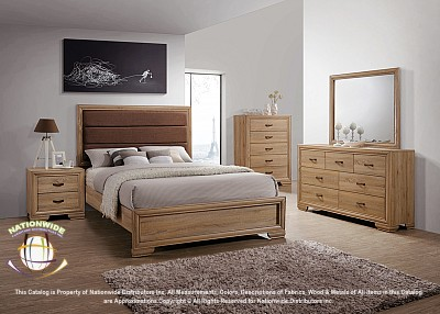5pc Adrift Queen Bed Na B402-5QSet