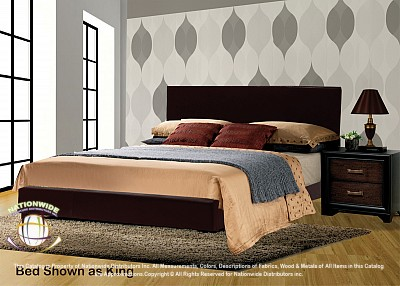 Conner Brown Platform Bed Frame - King