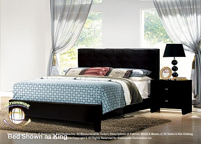 Conner Black Platform Bed Frame - Twin, Full or Queen