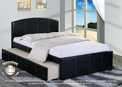 OverNite Brown Trundle Full Bed Na B850FB