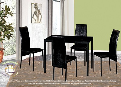 Pratt 5pc Dinette Set Na D701-5DSet