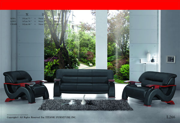 Black & Red Armed Chair Ti L266C