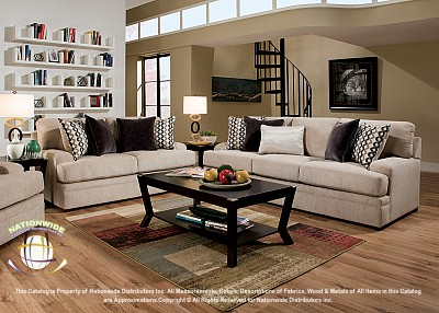 Bellini Designer 2pc Set (Sofa+Love) Na U111-2