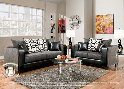 Torben Grey 2pc Set (Sofa+Love) Na U421-2