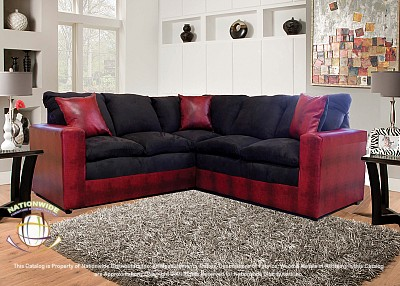 Ingrid Red 2pc Sectional Sofa Na U619-2