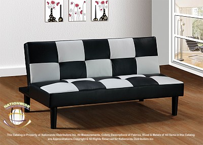 Checkerboard Futon Sofa Bed Na U980